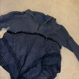 Free people quarter zip sweatshirt pullover